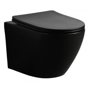 MUSZLA WC PRIMO SLIM BLACK CZARNY MAT